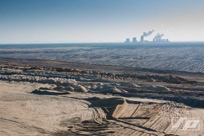 Widok na kopalnię odkrywkową w Weisswasser